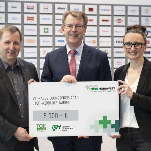 Nordwest unterstützt TOP-AZUBI des JAhres mit 5.000 €